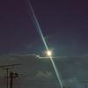 満月の夜、坊主ヨガ