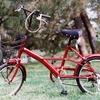 京都御所の赤い自転車