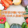なぜ野菜が嫌いなのか…野菜嫌いの大人目線で解説!