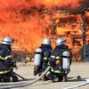 世田谷区玉川1丁目二子玉川ライズタワー&レジデンス高層マンション屋上階から出火、火災