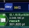 【GAW】艦隊戦終了!ソード大台突破!!