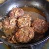 幸運な病のレシピ( 1020 )朝:煮込みハンバーグ、味噌汁、塩鮭