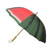 北斎グラフィックのスイカ柄の長傘を買ったら、雨の日のお出かけが少し楽しくなった♪