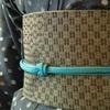 刺し子の半巾帯