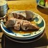 京成立石の「宇ち多゙」で煮込み×2、カシラタレ、レバボイル、シロよく焼き味噌。