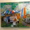 我孫子市民プラザで開催の「モンステラアート展」を見る
