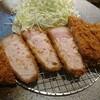 石川県金沢市駅西新町にある金沢かつぞうで、特厚ロースかつ定食。