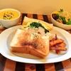 tokyokenkyoでタルイベーカリーの食パンを使ったボーリューミーなサンドイッチとスープでランチ!週替りのメニュー旬のほうれん草和風クリームソース+スクランブルエッグ。濃厚なかぼちゃのポタージュもいただきました!