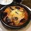 7月16日【昼のソト飲み】ビヤレストラン ミュンヘン、ほうれん草のソテー、茄子とエリンギのトマトチーズオーブン焼。