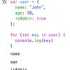 JavaScript の for … in 文を使ってみる