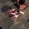 自宅にて新秋刀魚を囲んでの祭り!