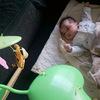 メリーに興味が出てきた息子 メリーと赤ちゃんの組み合わせは癒し効果大