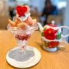 水信フルーツパーラーラボで淡雪いちごのパフェをいただきました【食べレポ】
