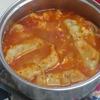 【韓国料理】冷凍餃子を使って最高の料理が出来た!!美味しくてスパイシーな「マンドゥック」の作り方