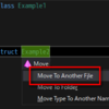 【ReSharper】クラスや構造体を新しいファイルに移動する