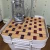 例の無印良品、頑丈収納ボックス×セリア、すのこでコラボテーブル^^