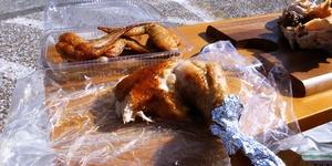 【年金生活を楽しく】外カフェ・中島ブロイラーの丸焼きでピクニック