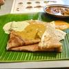 経堂の「スリマンガラム」でティファンモーニング(骨付きマトンのスープ、ドーサ)。