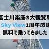 富士川楽座の大観覧車Fuji Sky View1周年感謝祭で無料で乗ってきました