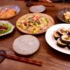 キンパ(韓国海苔巻)とお誕生日のごはんメニュー
