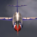 """""""FSX Douglas D-558-2 Skyrocket_Hybrid model """"has been updated to v1.1."""