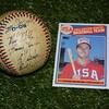 1984年 ロサンゼルスオリンピック 野球競技 銀メダル USA 直筆サインボール  #markmcgwire  #willclark #barrylarkin  #bobbywitt  #roddedeaux  #shanemack  #メジャーリーガーズ  #ファミスタ