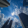 2021年7月23日:新宿の空にブルーインパルス