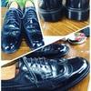 結婚式には靴磨きをして、、