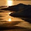 いつもの海に沈む夕日…