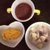 お野菜からの離乳食  [287日目  チキンボールのピンクの野菜スープ]