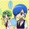オリキャラ1コマ・碧と藍。