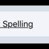 Correct Spelling