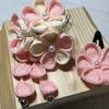 【つまみ細工】お雛祭り向き 小さめの可愛い摘まみ細工の髪飾り