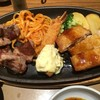 ステーキミックス定食を食べた。 キャンペーン価格で790円です。 at やよい軒_池袋劇場通り店