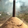 籾殻の薫炭作り