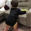 息子 8ヶ月と22日 つかまり立ちで遊んでる?!('ロ'('ロ'('ロ'('ロ' )!!!*モニター希望*