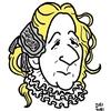 フジコ・ヘミングの似顔絵