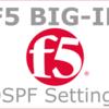 BIG-IPでOSPFを設定しダイナミックルーティングする