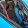 新TOYOTA86 ブラックパッケージのブライトブルーに赤いブレンボが付いてるから・・・そうだ!シートベルトを赤にしちゃおう! 車検対応張り替え