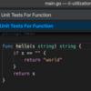 vscode で Go: Generate Unit Test が便利だった♪