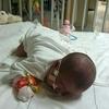 【三女】ノーウッド・グレン手術後18日目、寝返り。