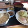 エッグW牛皿、豚汁変更