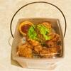 花椒辣醤の唐揚げ丼とランチボックス