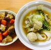 団子汁?、椎茸と人参と鶏肉の煮物