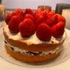 ケーキも作ったよ