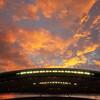 夕焼けをGRで撮る、真夏の夜のスタジアム