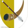 鎚矛の紋章。角笛とセットで。