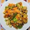 【筋肉に良い食事】鶏肉とうずらの卵のにんにく炒めの作り方。