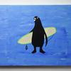 売り切れていたペンギンサーファーの絵を描きました