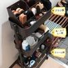 シューケア用品の収納〜バスケットトローリーと100均グッズで可動式収納棚〜